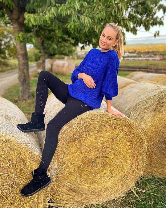 Tereza Fajksová už je v 5. měsíci těhotenství.
