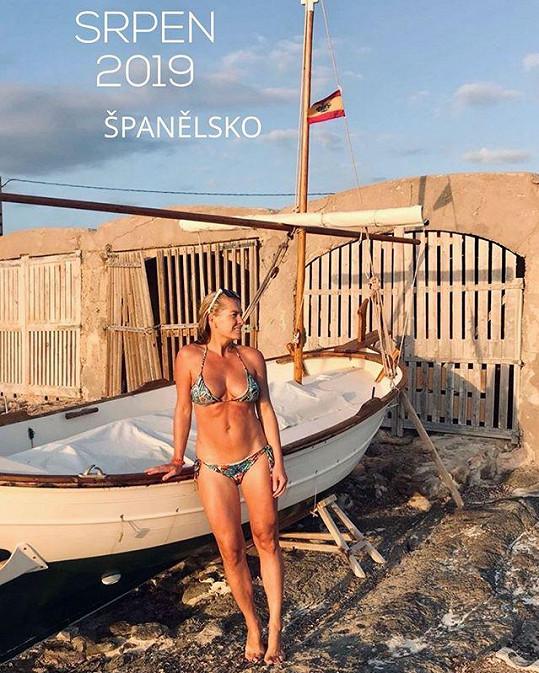 Olga Menzelová se pochlubila fotkou v plavkách.
