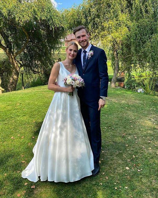 Tanečník Dominik Vodička se oženil s dlouholetou partnerkou Eliškou.