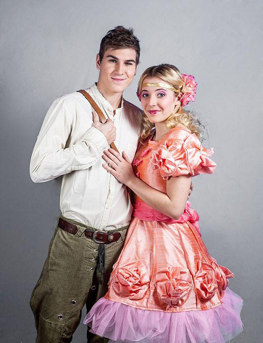 David s kolegyní Aničkou Slováčkovou