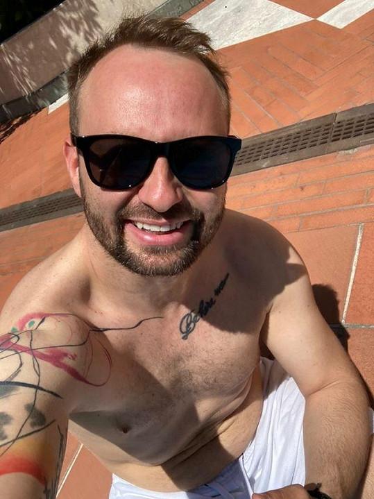Marek Dědík se sluní ve Florencii.