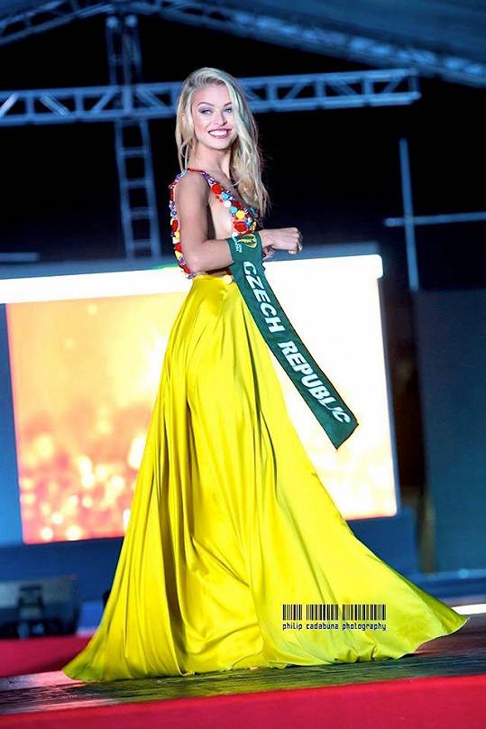 Kristýna Kubíčková na finále Miss Earth