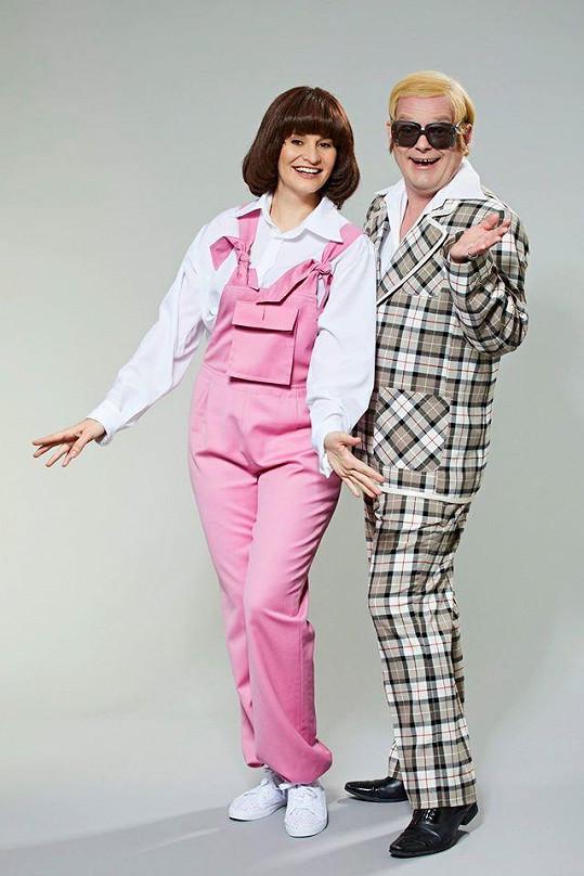 Monika a Aleš jako Kiki Dee a Elton John