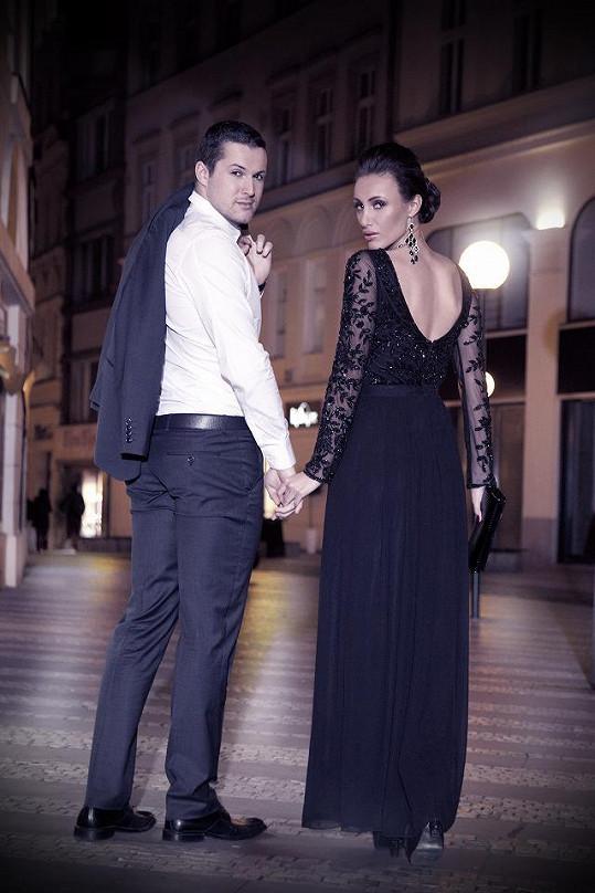 Společné foto Táni a Zdeňka v kampani.