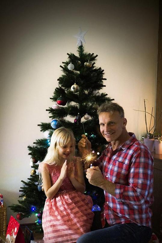 Původně měl v plánu Martin nafotil krásný snímek s dcerou Emou.