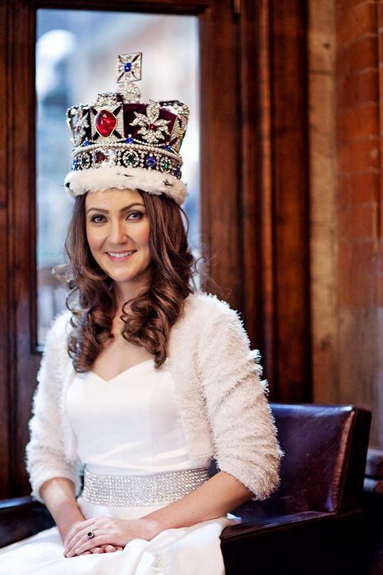 Heidi Agan v roli dvojnice vévodkyně z Cambridge