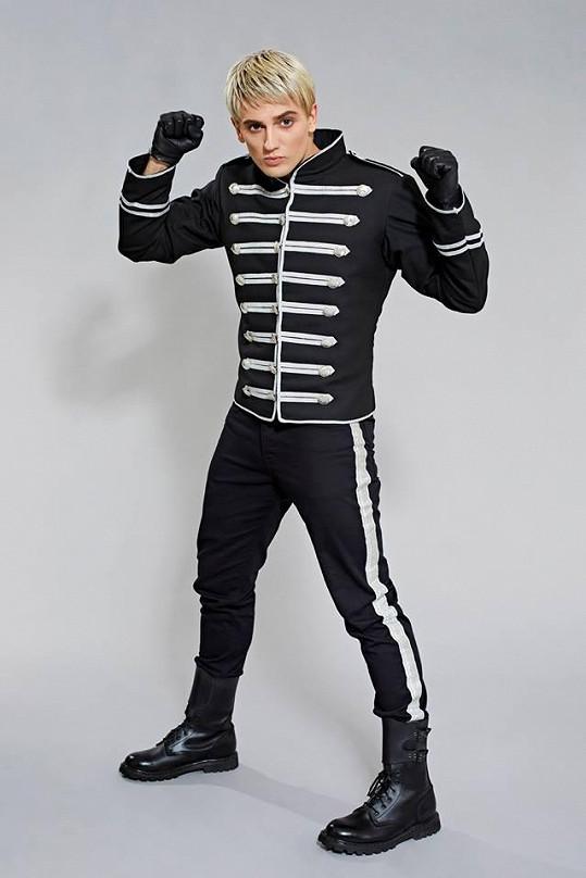 Jan Kopečný jako Gerard Way z kapel My Chemical Romance