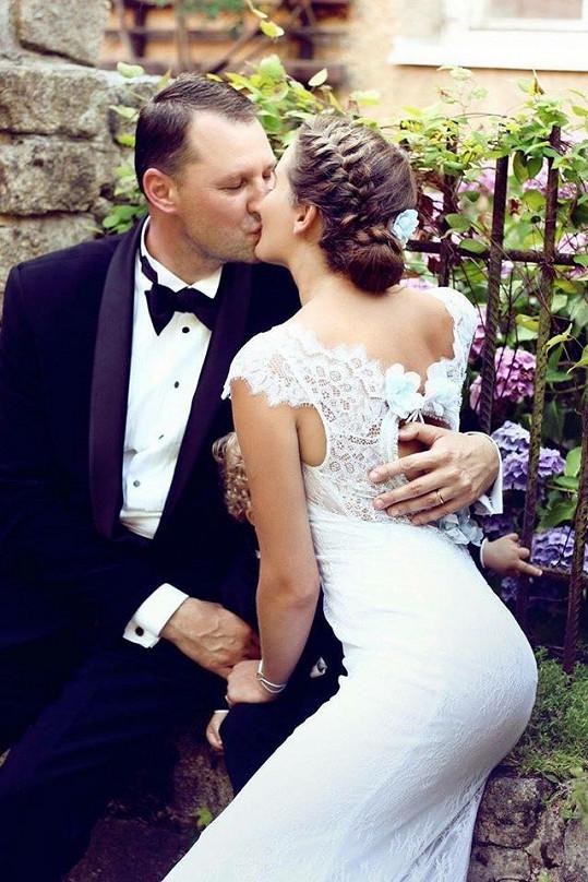 Dominika s manželem