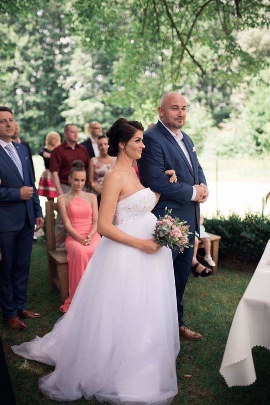 Tereza Čiháková se vdávala v 7. měsíci těhotenství.