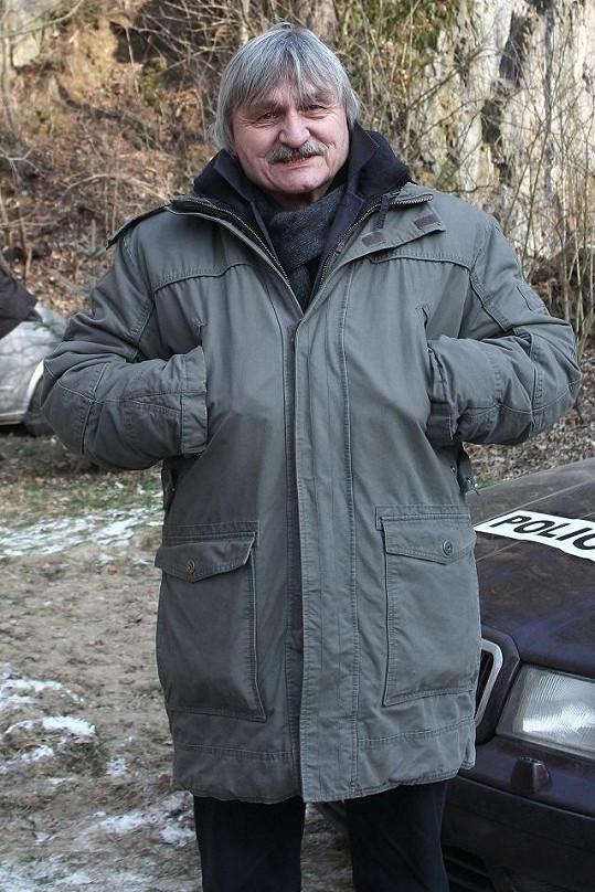 Pavel Soukup si pochvaloval vyteplený kabát.