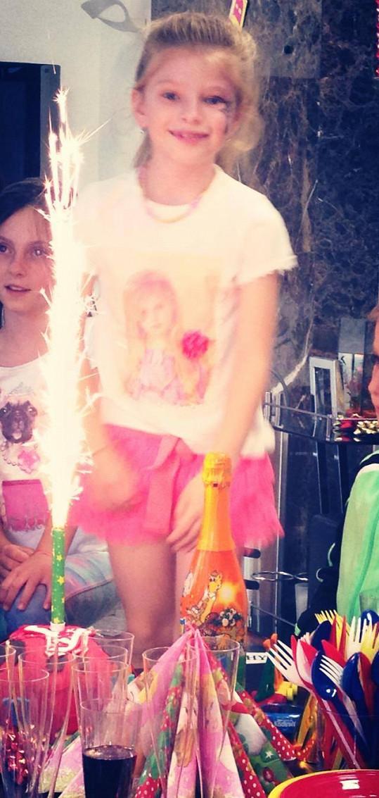 Vanessa oslavila sedmé narozeniny.