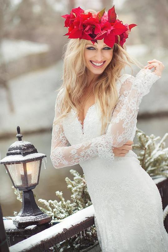 Veronika Kašáková ve svatebním