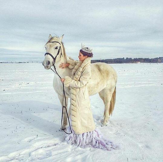 Focení s koněm bylo nahodilé.