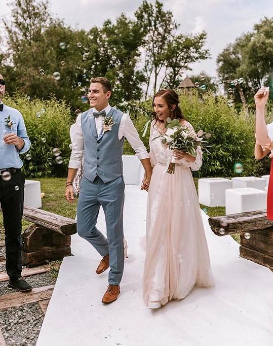 David Gránský se pochlubil snímkem ze svatby.