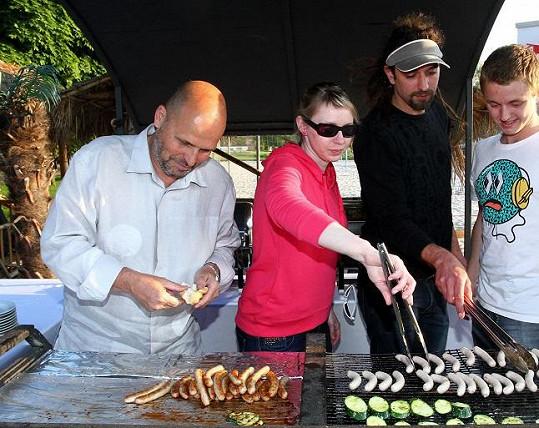 Kuchař se účastnil prezentace nového portálu o vaření.