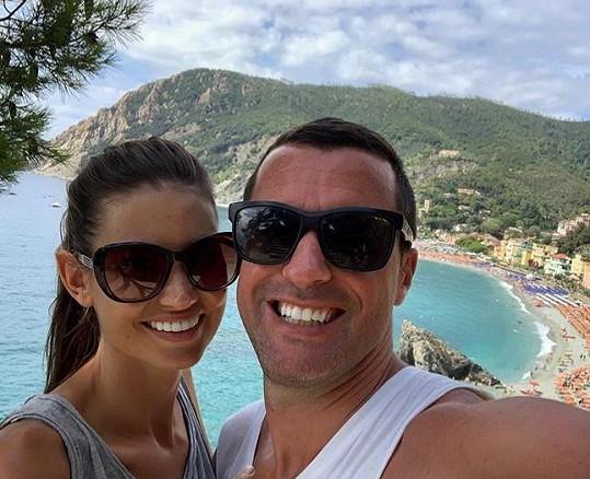 Se svým italským přítelem Gabrielem