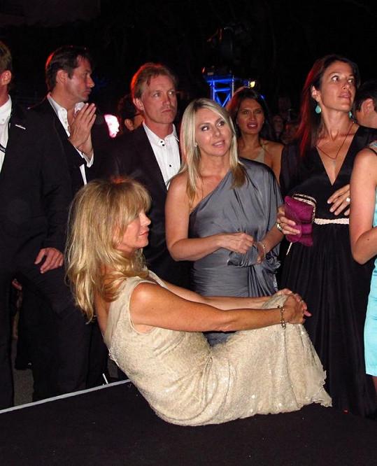 Americká herečka Goldie Hawn na party v Cannes.