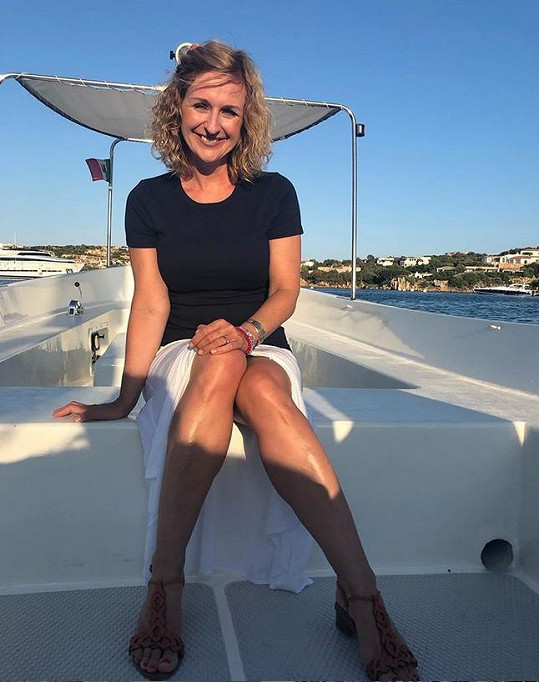 Terezie celé dny tráví na lodi.