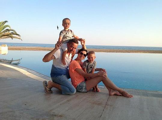 Petr Bende s rodinkou.