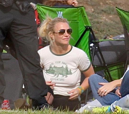 Britney má ráda pohodlí.