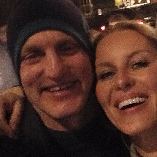 Simona si s Woodym udělala selfie.