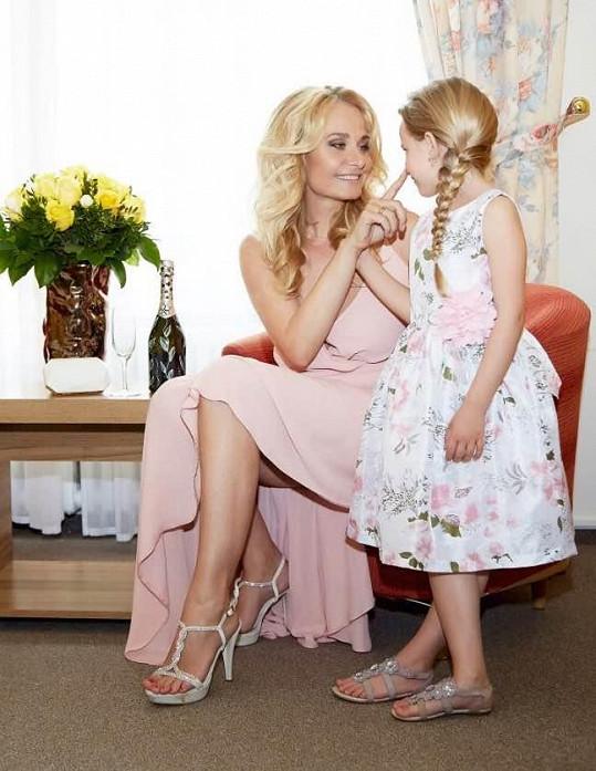 Reklamní snímek s dcerou