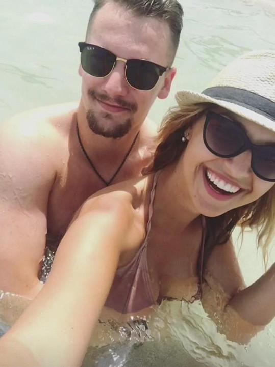 Lucie s přítelem Petrem Holíkem