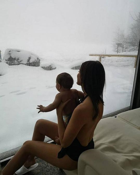 Alagič se synem Sanelem v hotelovém wellness