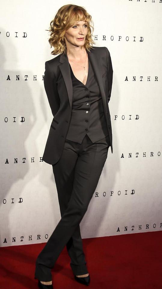 Aňa Geislerová na premiéře filmu Anthropoid