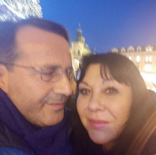 Dáda s Vitem na Staroměstském náměstí