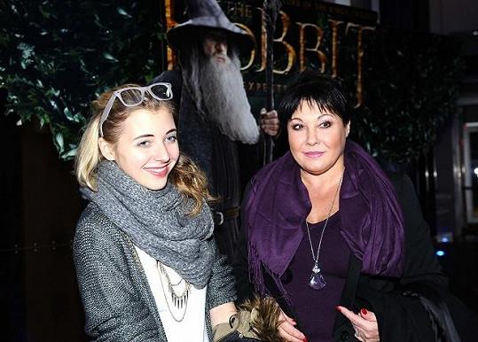 Dáda Patrasová se s dcerou Aničkou shodnou ve filmovém vkusu.