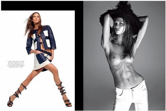 Karlie Kloss pro italský Vogue.