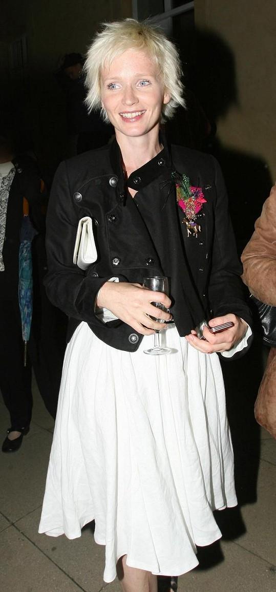 Aňa Geislerová byla na blond v roce 2008.