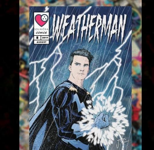 Do nadačního komiksu ho namalovali jako superhrdinu, jímž by rád byl.