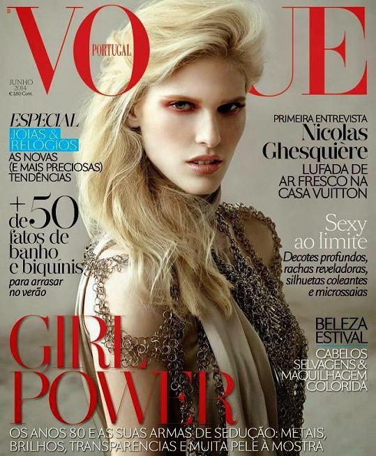 Niki Trefilová na obálce portugalské mutace Vogue