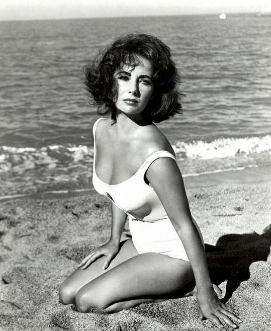 Liz Taylorová na snímku z roku 1960.