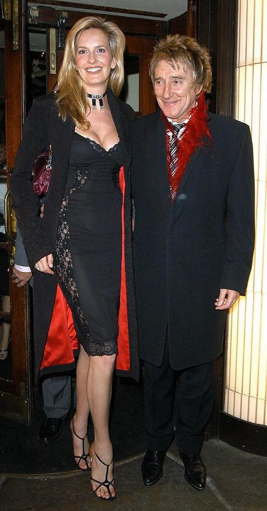 Rod Stewart s manželkou Penny Lancaters