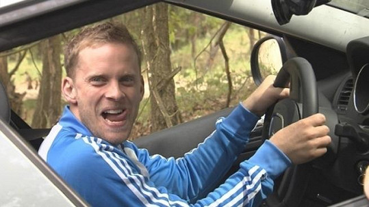 Jakub Prachař si jízdu vyloženě užíval.