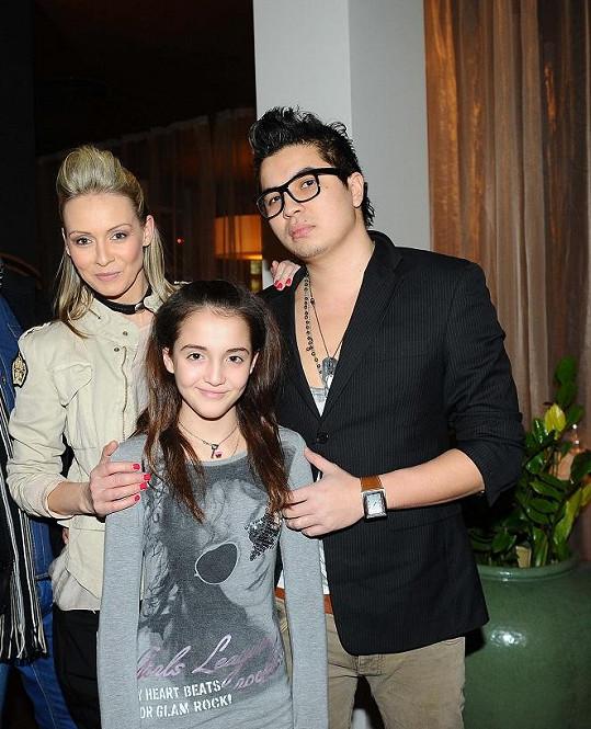 Martinu přišel podpořit přítel Marcus a dcera Jessika.