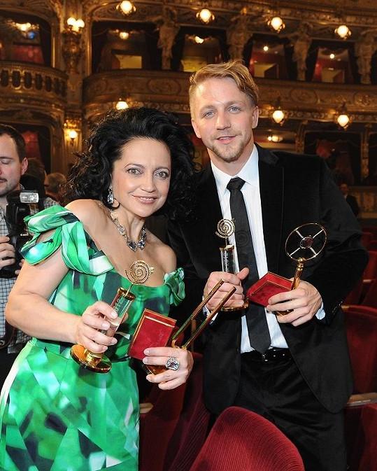 Slavíci Lucie Bílá a Tomáš Klus.