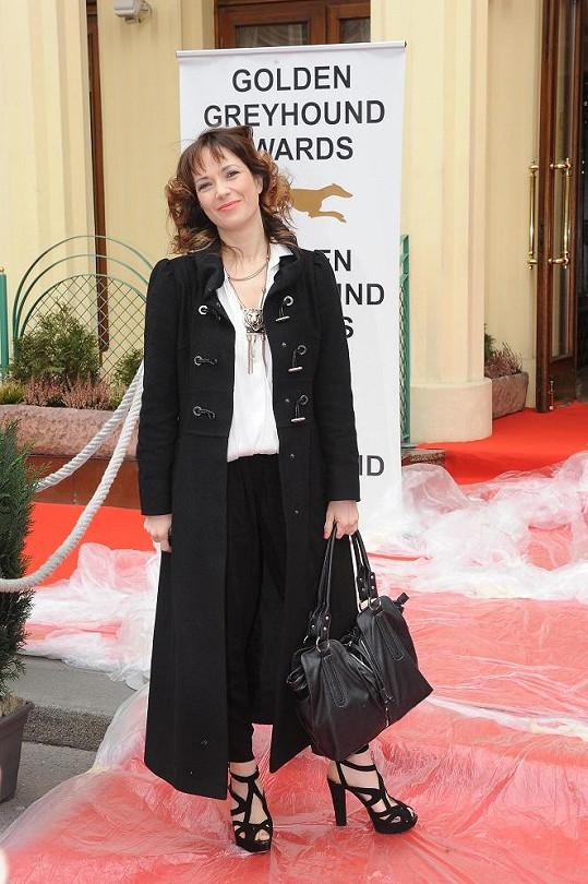 Tereza Kostková dorazila na ceny Zlatý chrt.