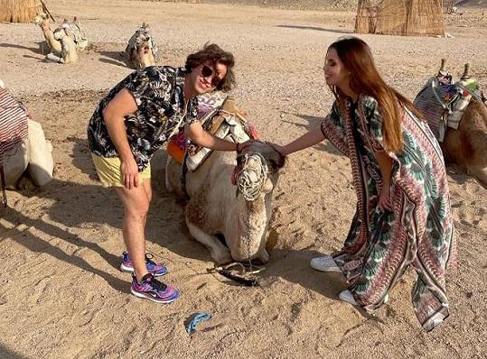 Natáčení v Egyptě