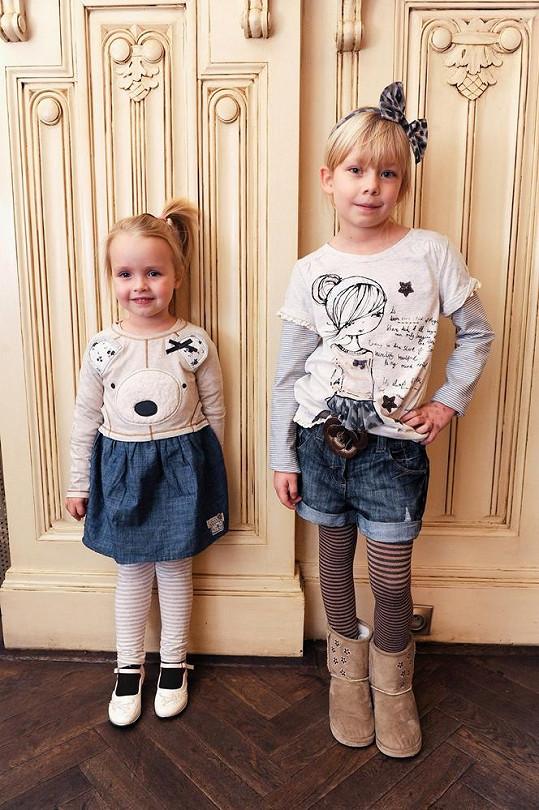 Dcery Kristelové a Maxy se staly tvářemi dětského butiku.