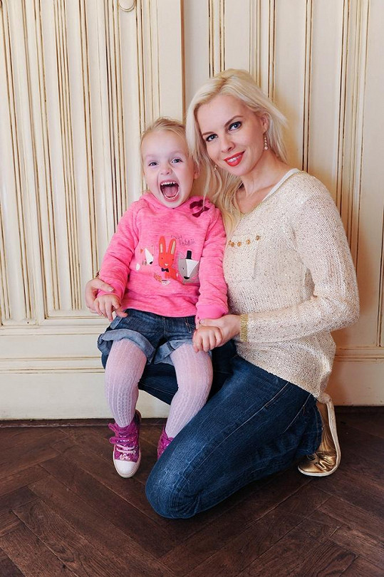 Kateřina Kristelová s dcerou