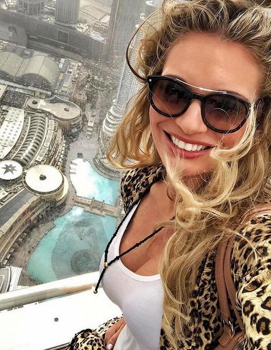 Borhyová během dovolené navštívila i nejvyšší budovu světa.