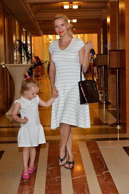 Kateřina Kristelová s dcerou Claudinkou