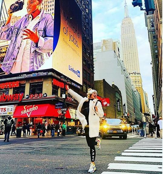 Bára nejdříve navštívila New York.