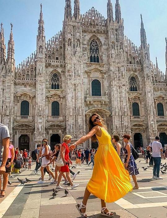 Leová pak navštívila i Milán.