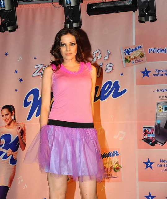 Radka Kocurová na módní show.