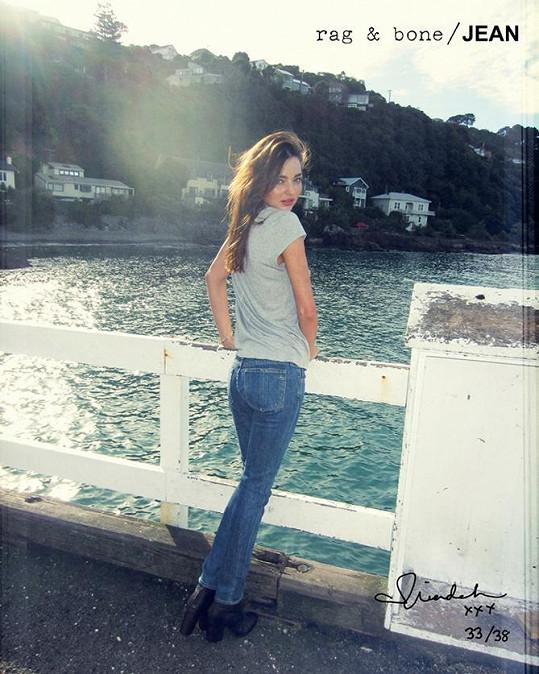 Miranda Kerr na Novém Zélandu.